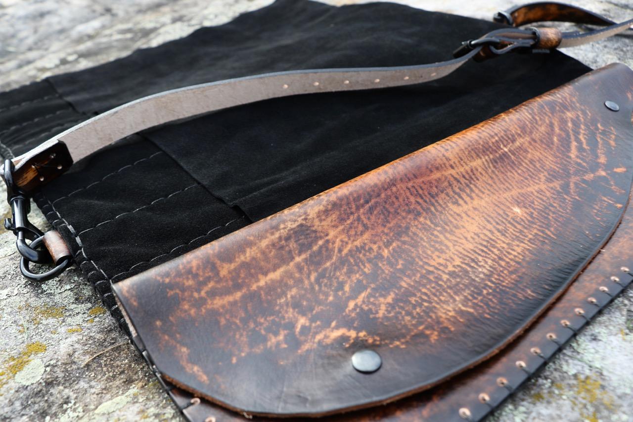Dark Leather Knife Roll Fox Roll 2.jpg