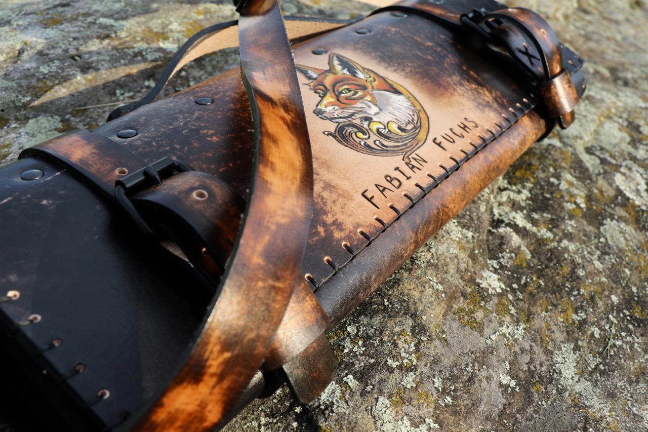 Dark Leather Knife Roll Fox Roll 5.jpg