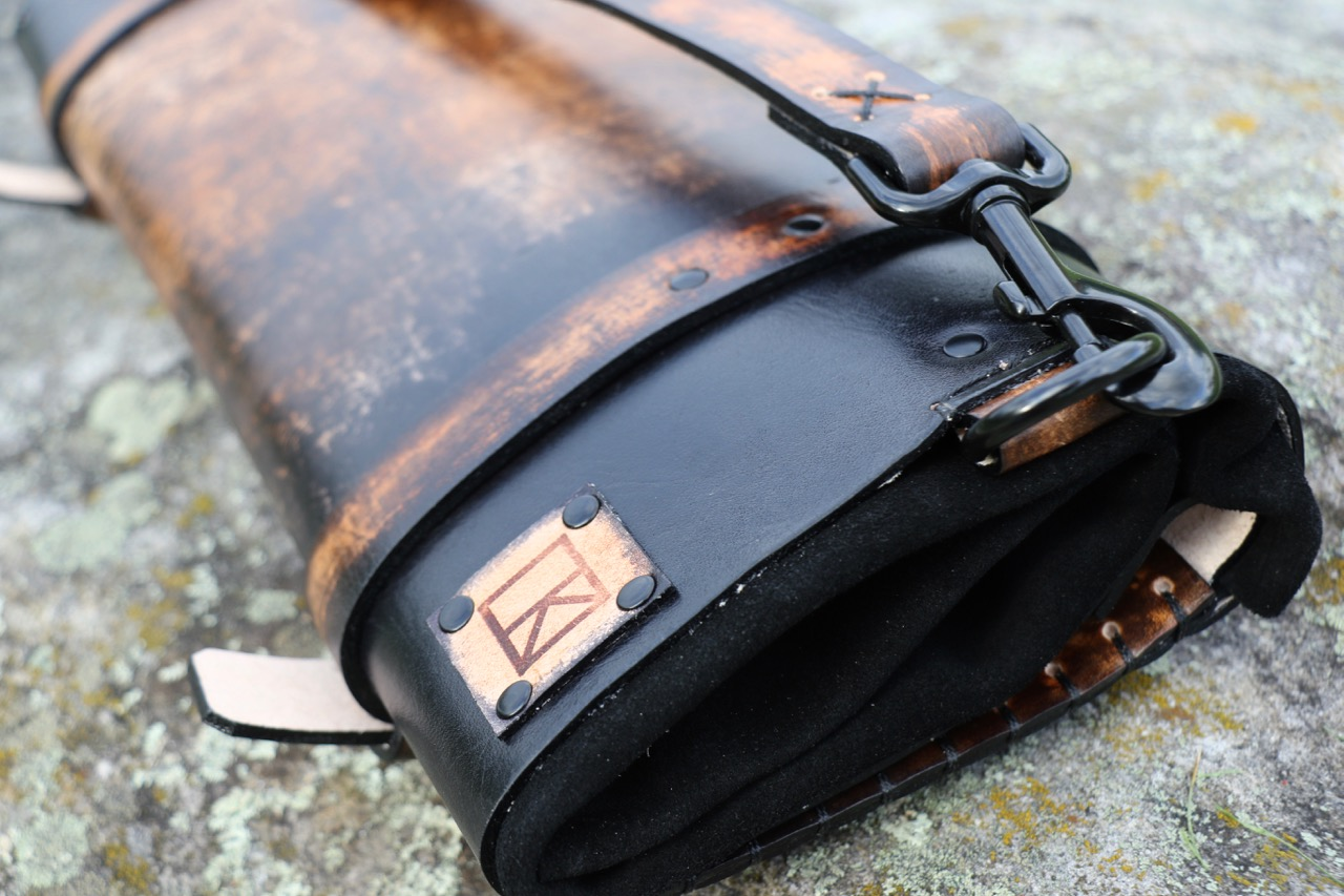 Dark Leather Knife Roll Fox Roll 7.jpg