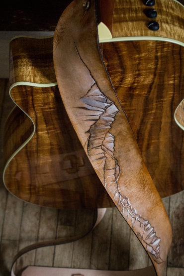 Sierra Nevada Mountains Guitar Strap