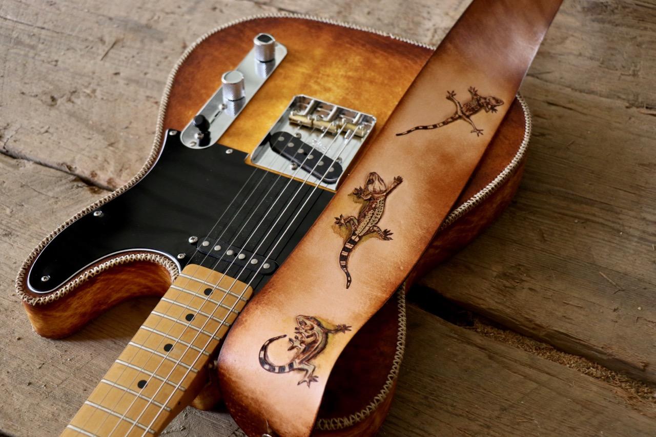Three Lizards Guitar Strap  5.jpg