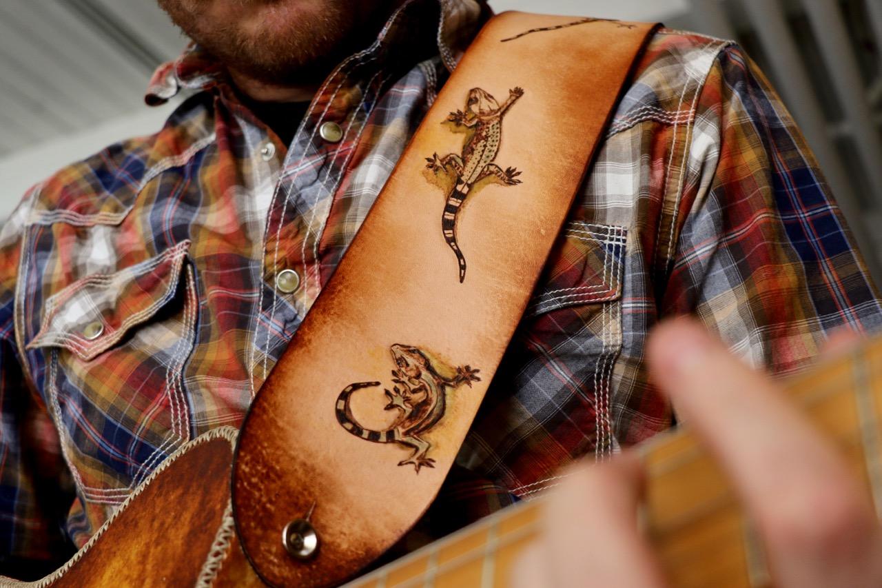 Three Lizards Guitar Strap
