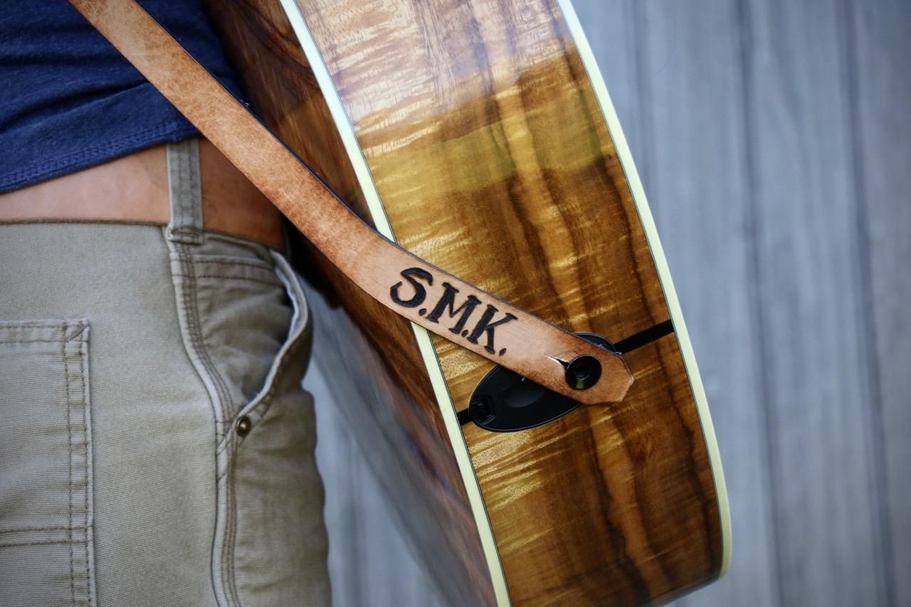 maple leaf guitar strap