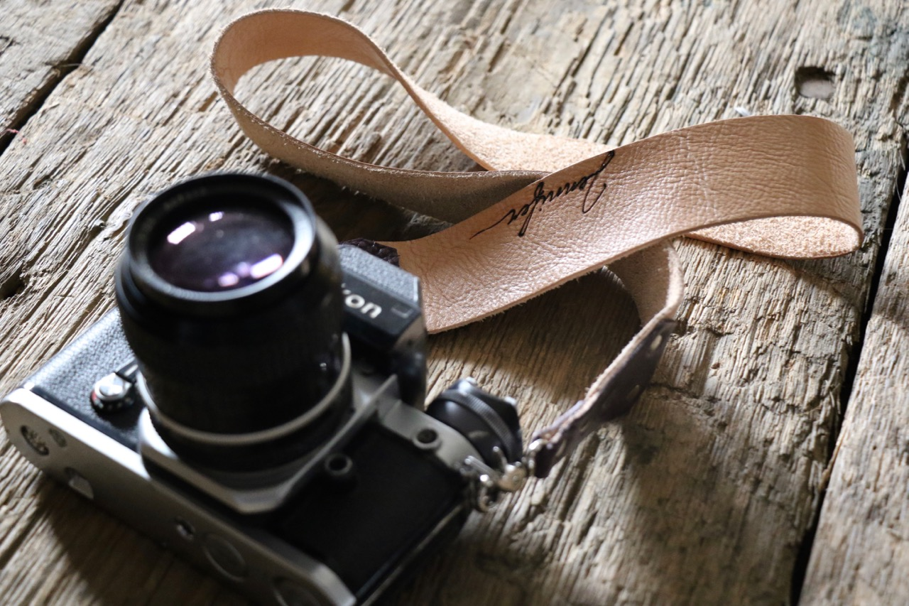 Natural Leather Camera Strap