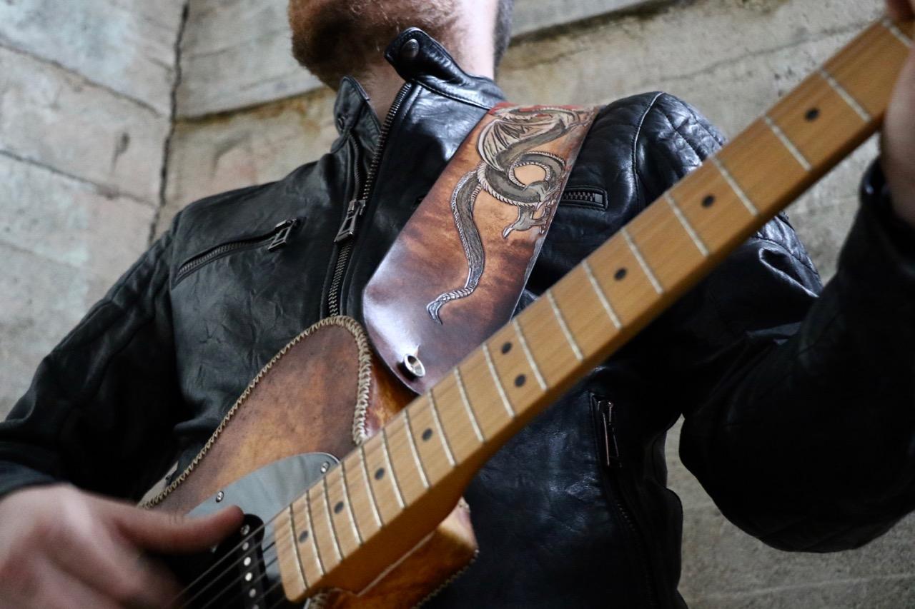 Japanese Dragon Guitar Strap