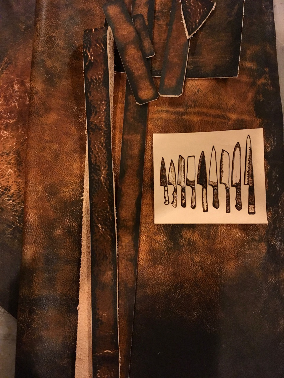 Leather apron for the chef by Linny Kenney