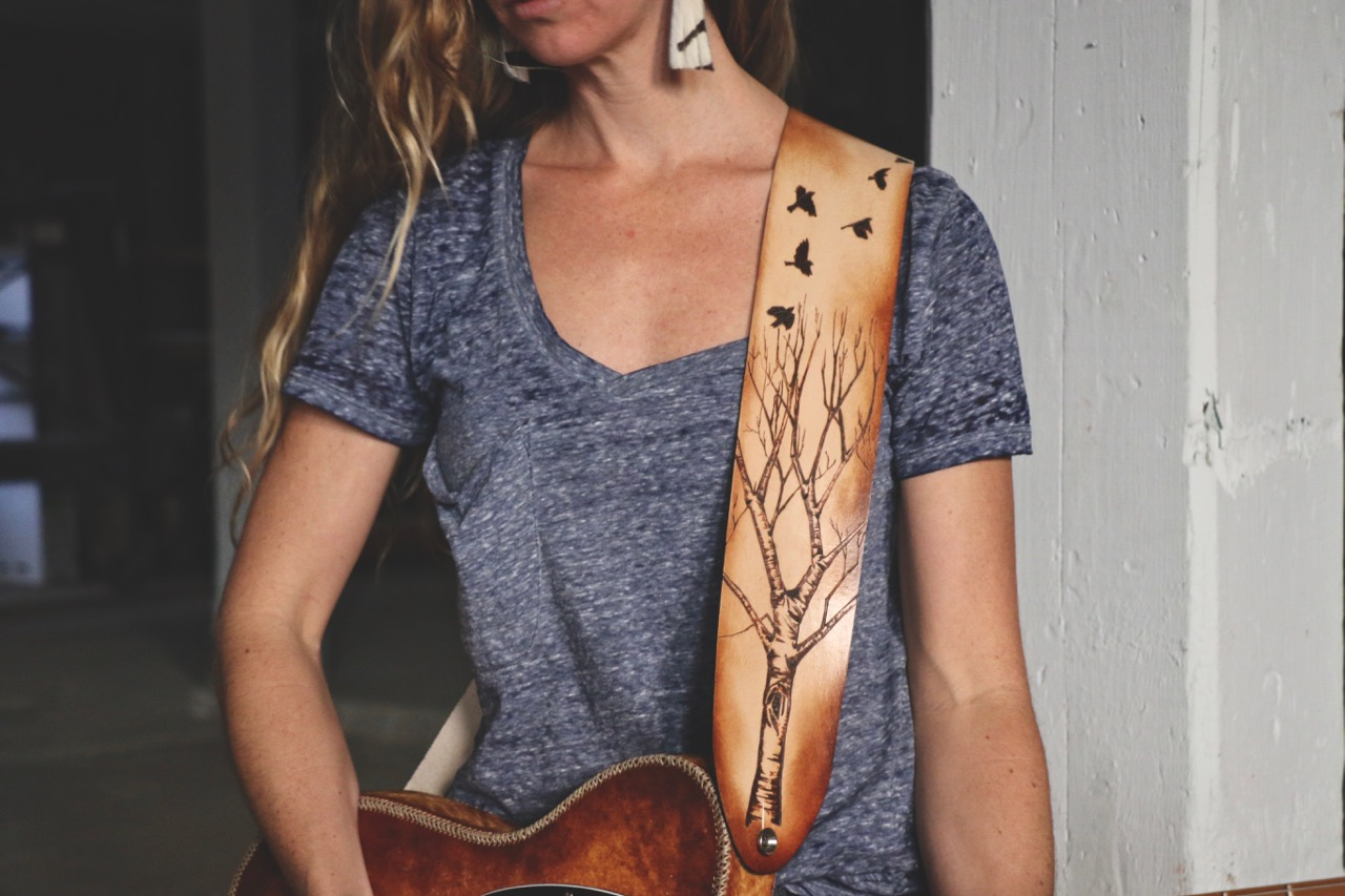 Tree and birds guitar strap 7.jpg