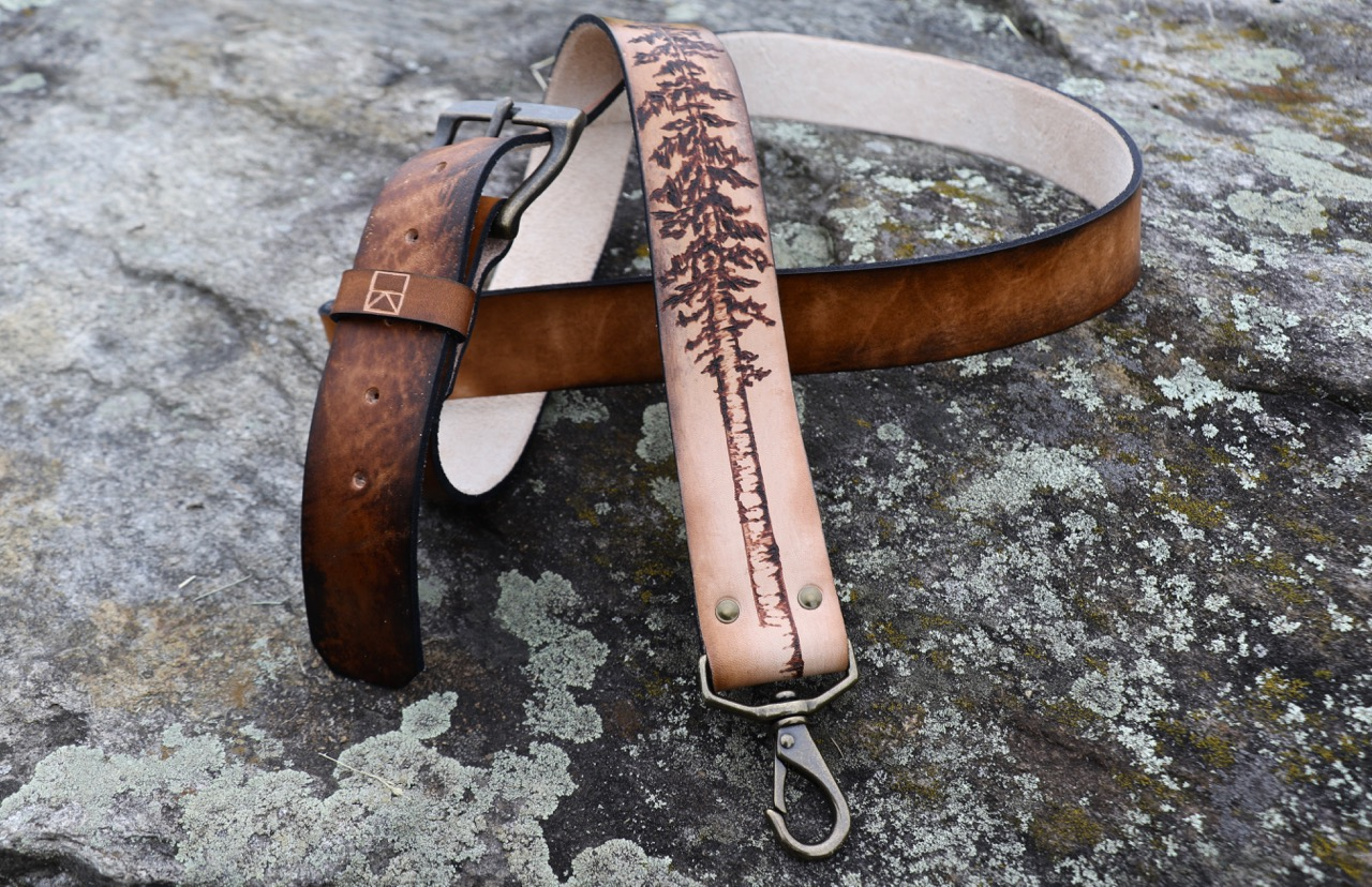 custom messenger bag strap with tree