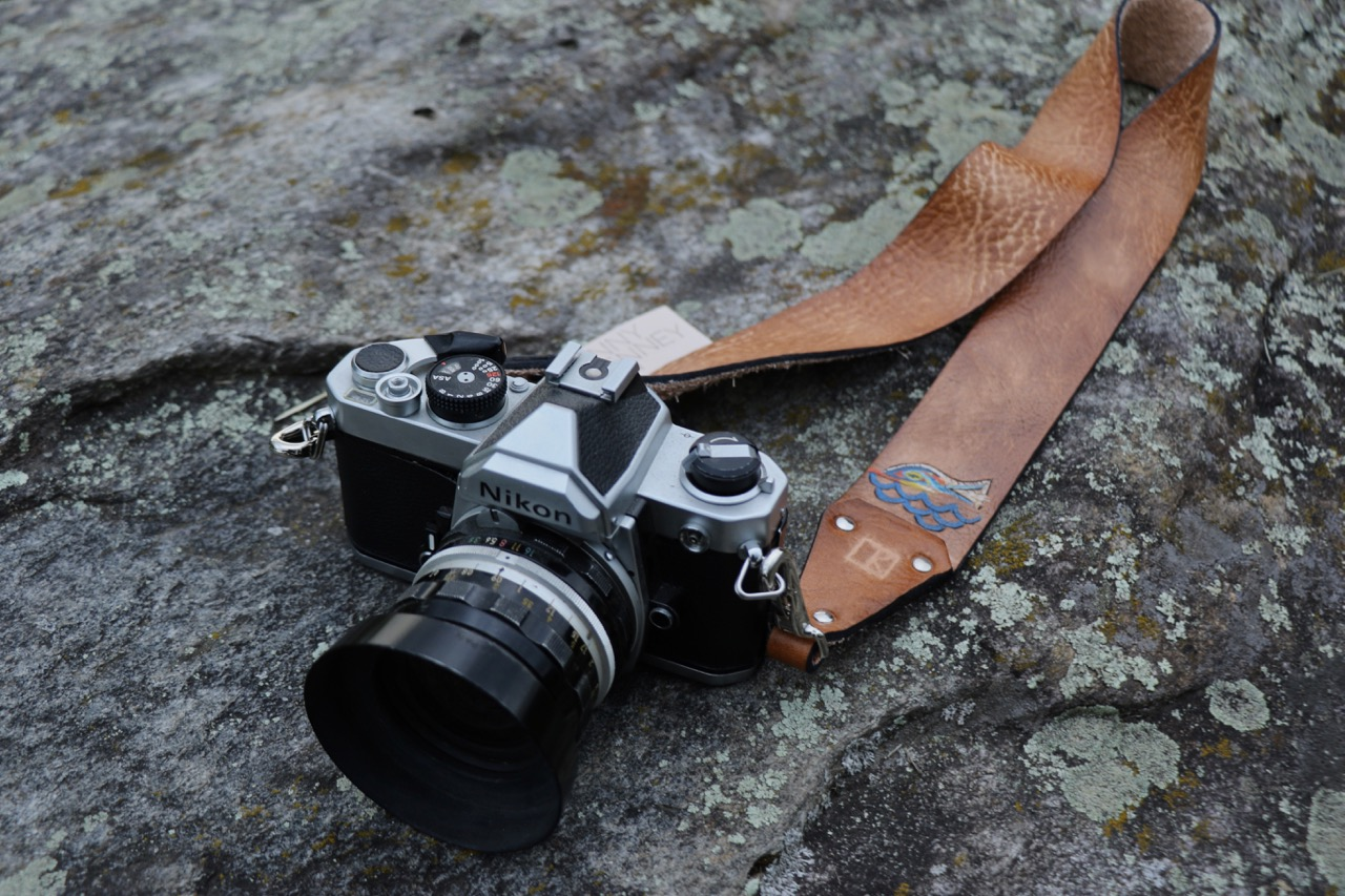 custom camera strap with fish
