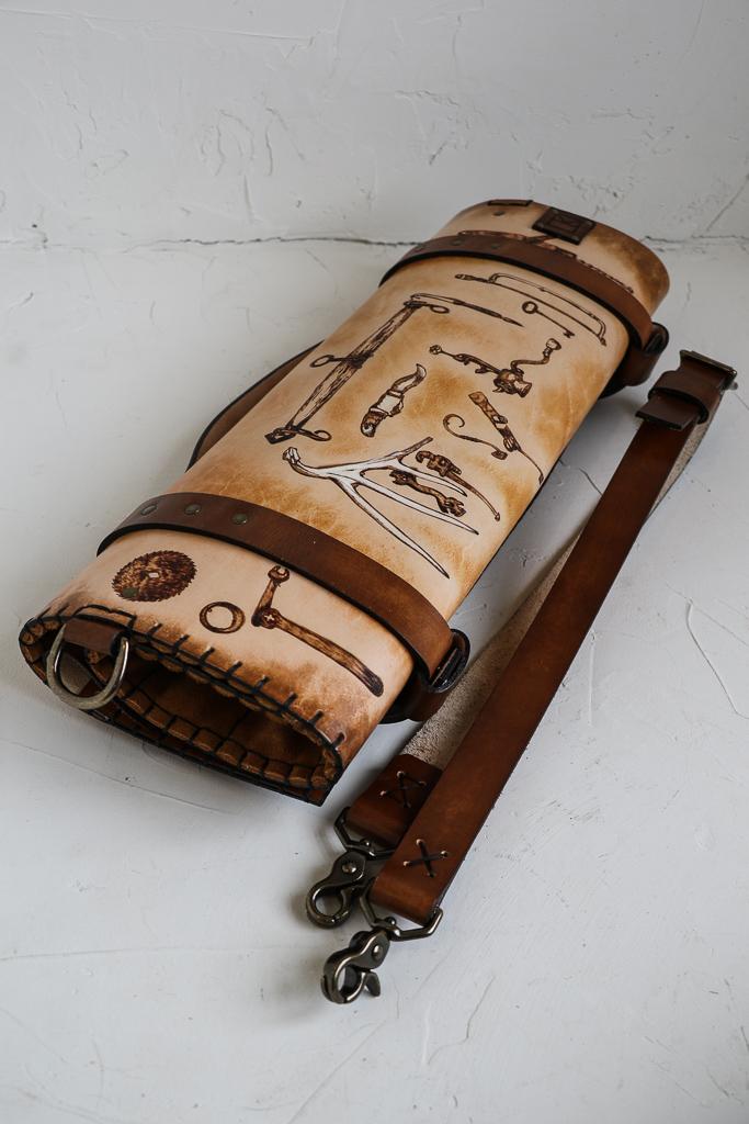 Tool Wall Custom Knife Roll by Linny Kenney