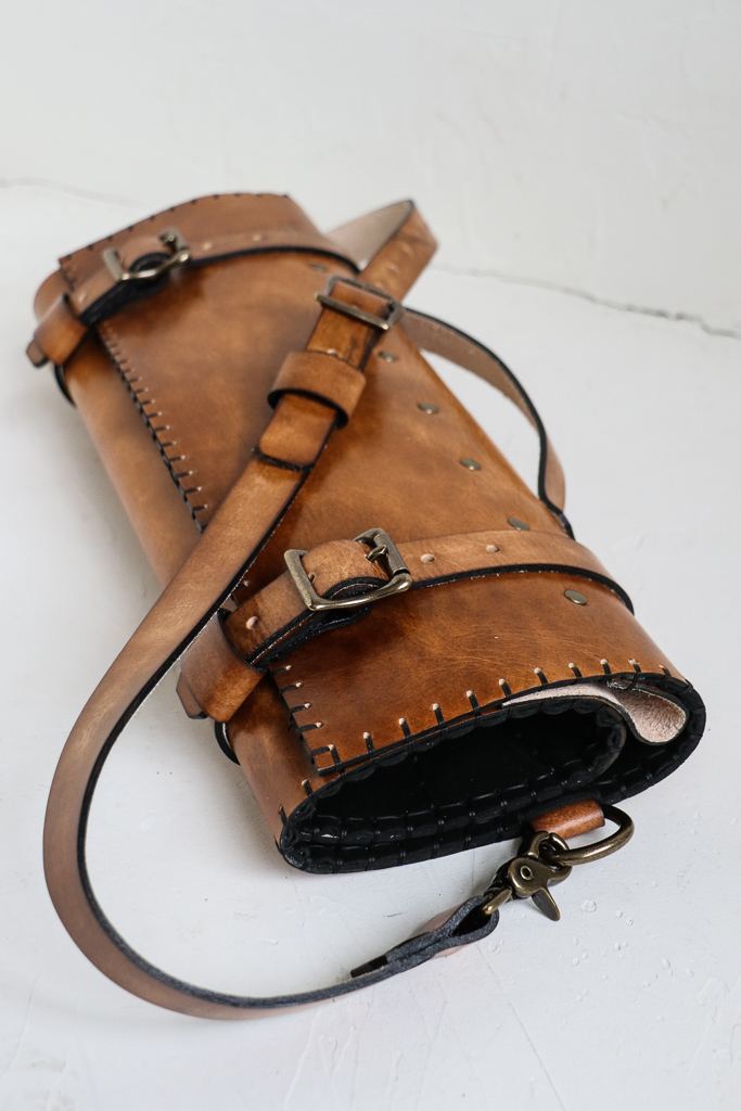 English Saddle Knife Roll by Linny Kenney