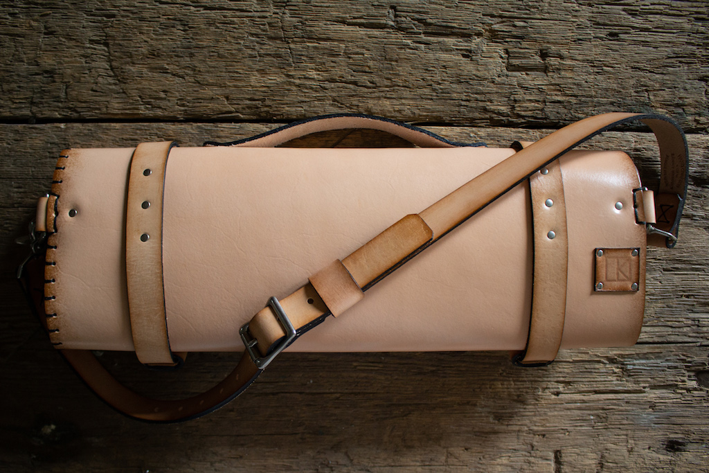 Natural Leather Knife Roll by LKL