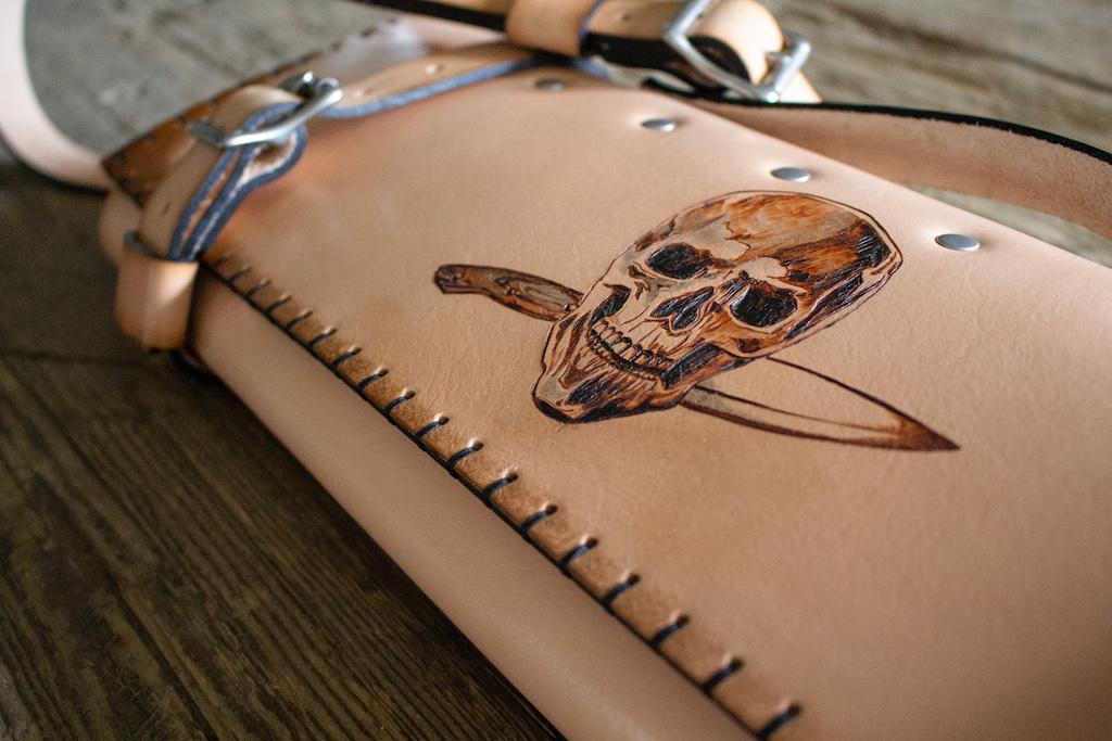 Skull Knife Roll by Linny Kenney