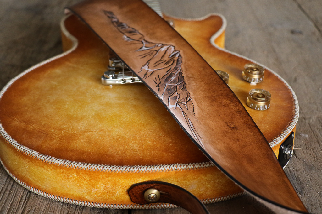 mountain guitar strap by Linny Kenney