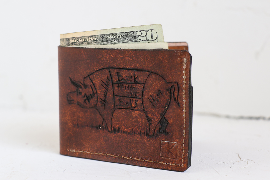 pig diagram wallet by Linny Kenney