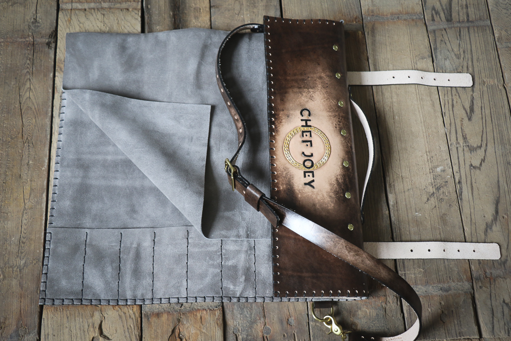 Chef Joey knife roll for Joey Maggiore  by Linny Kenney