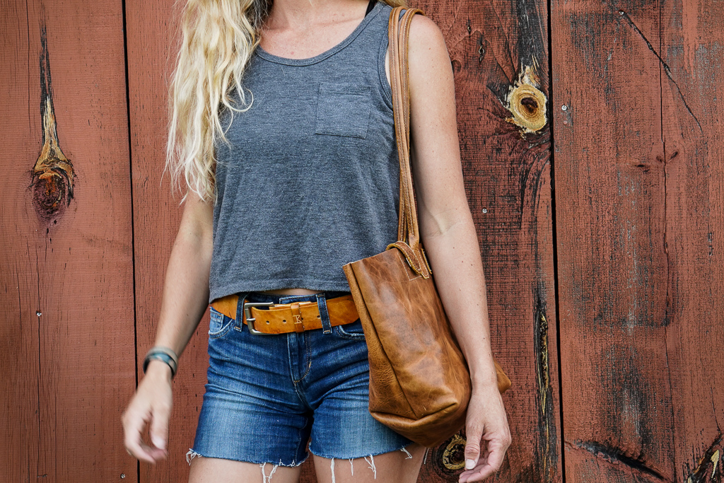 bison leather purse by Linny Kenney