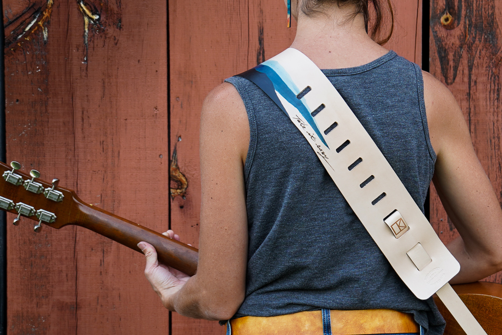 Blue Ridge Mountains Guitar Strap by Linny Kenney