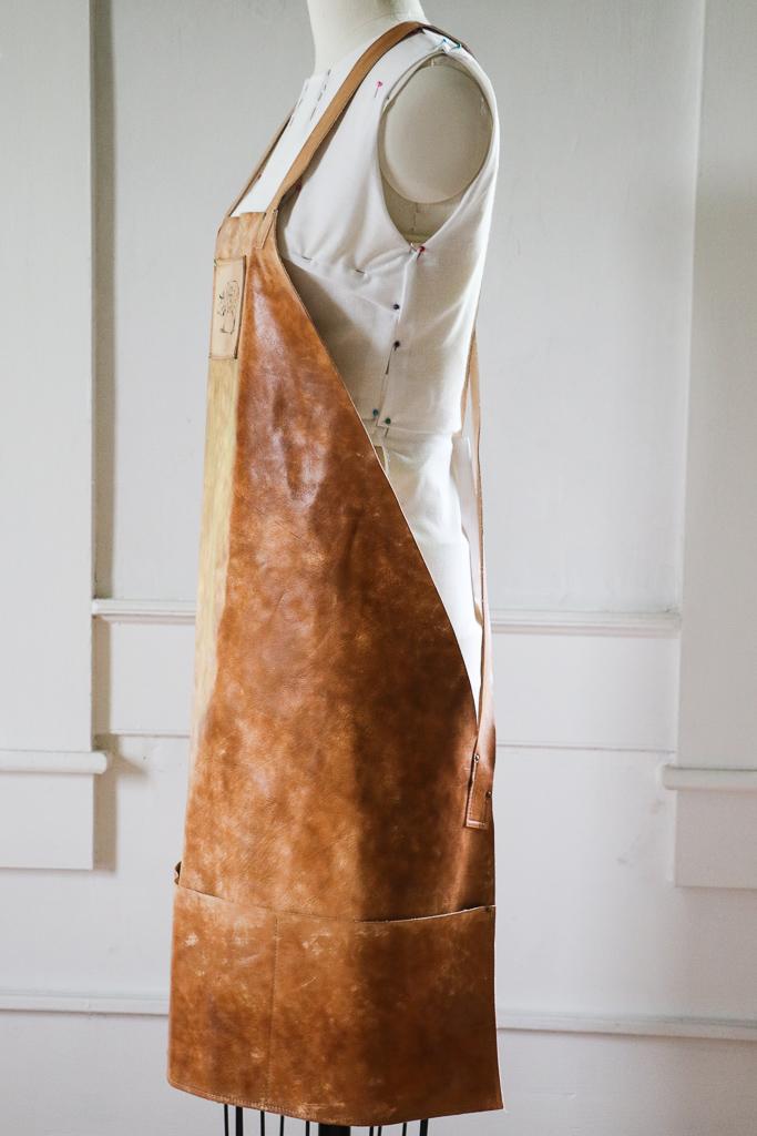 Butcher's Leather Apron by Designer  Linny Kenney