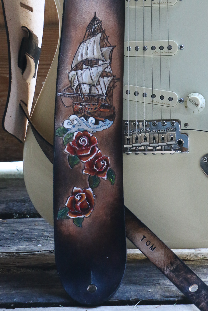 Old Tattoo Nautical Guitar Strap 2.jpg