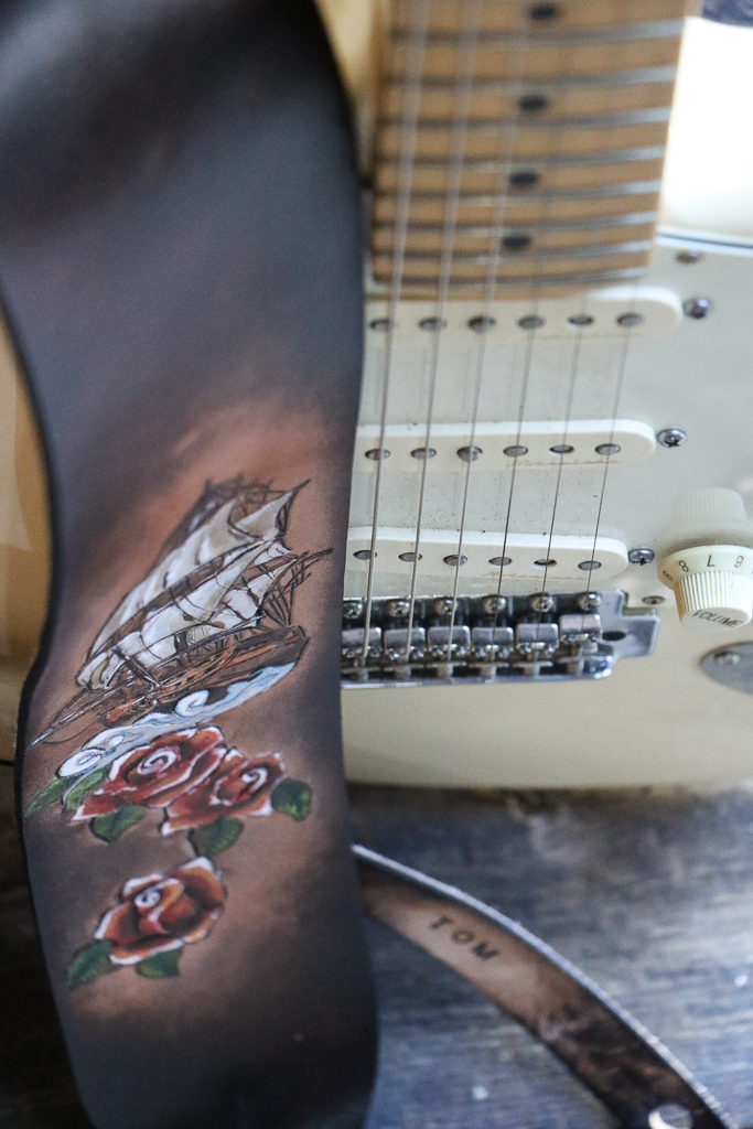 Old Tattoo Nautical Guitar Strap 3.jpg
