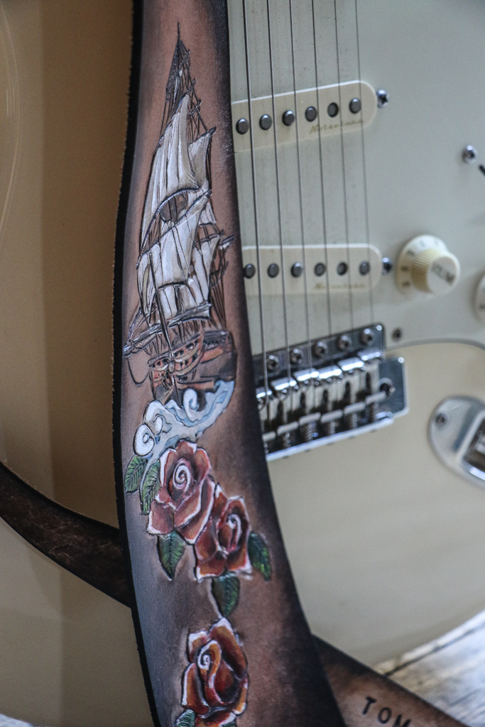 Old Tattoo Nautical Guitar Strap 4.jpg