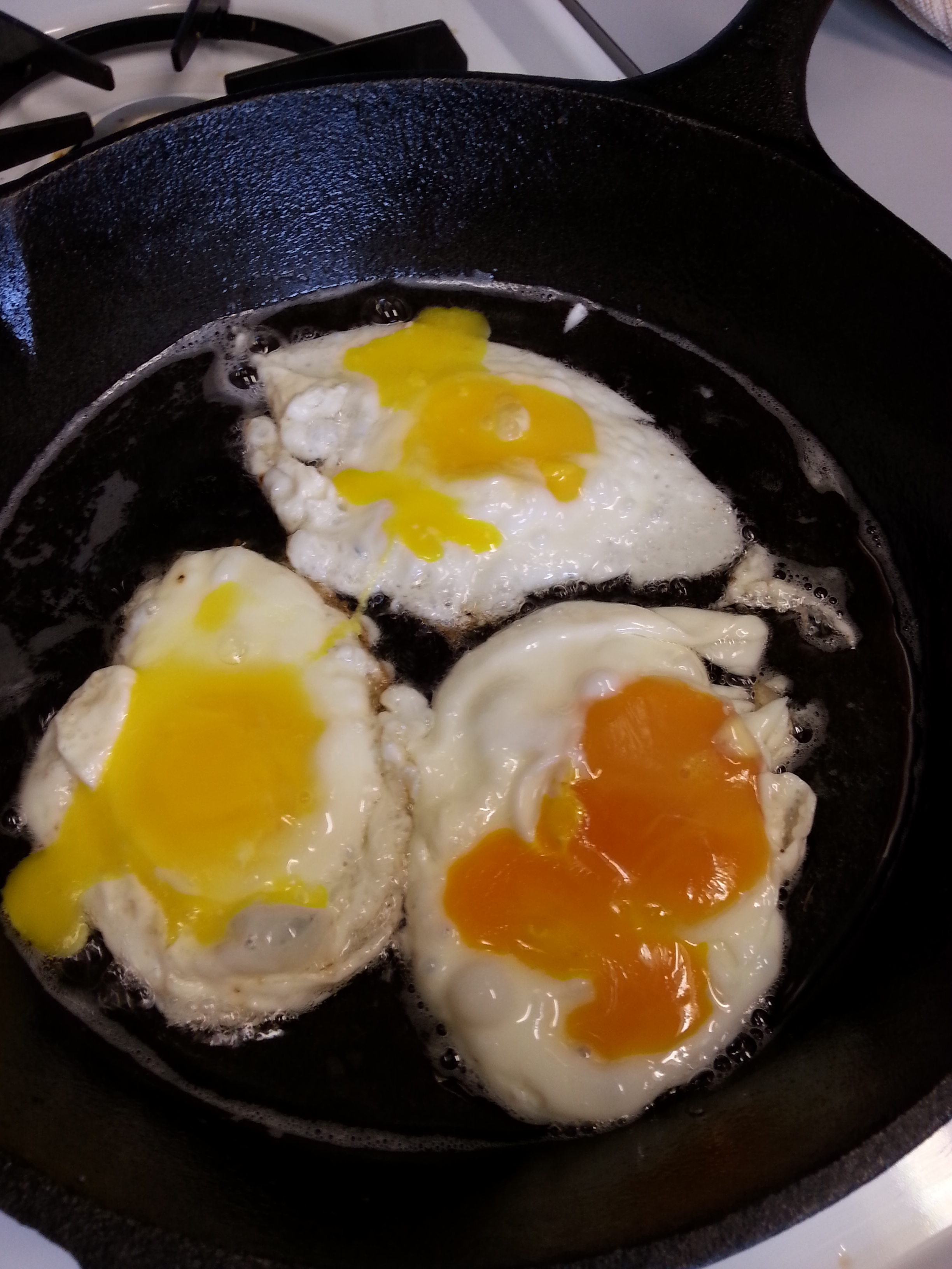 The bright color of our eggs especially stood out once the yolks were broken