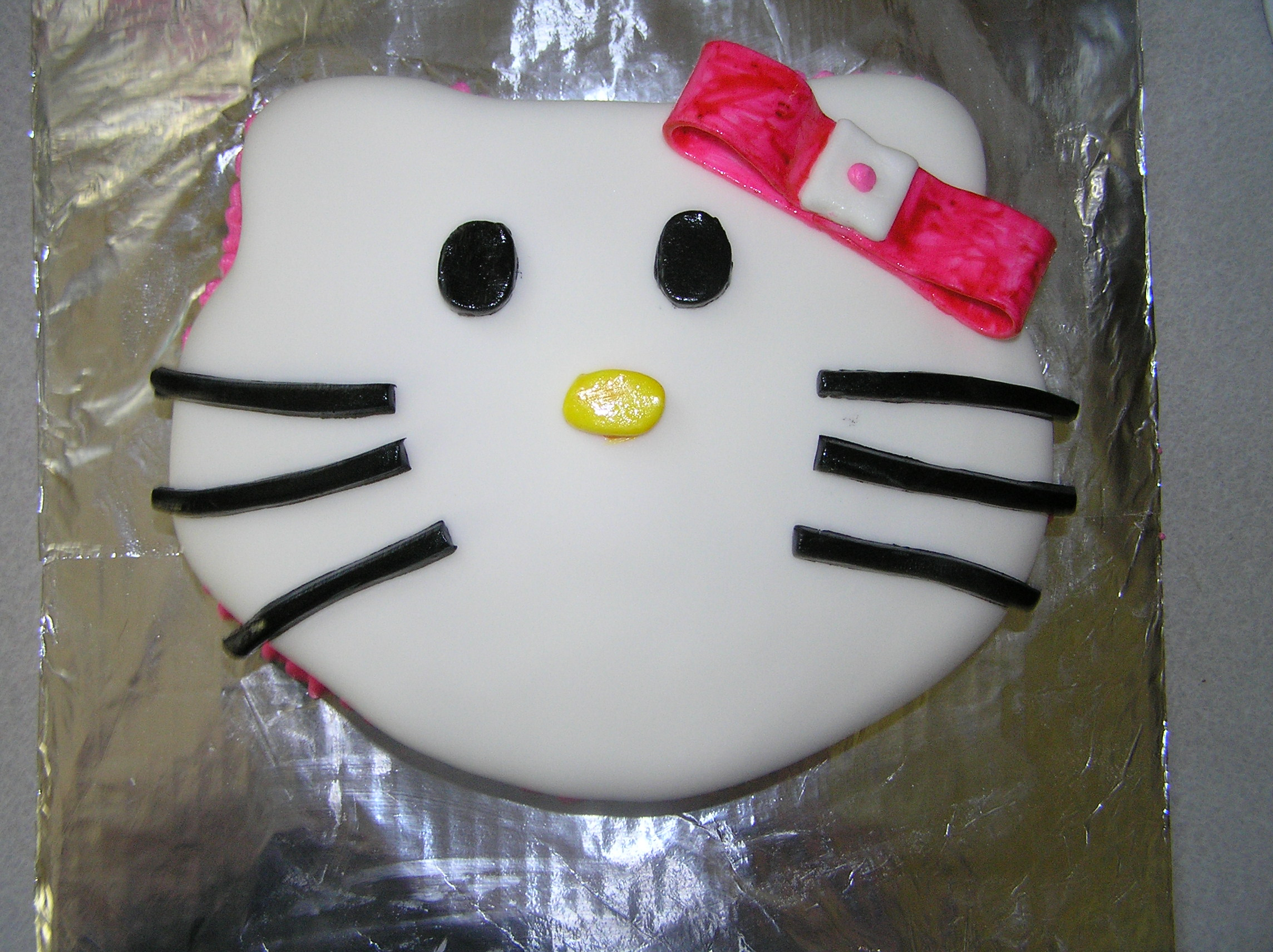 7) Hello Kitty:  A dear friend requested this cake for his wive's birthday and by all the stupid fates aligning, he was in a coma on her birthday. So I brought the kitty to the hospital because he would have wanted that. RIP, Bret.