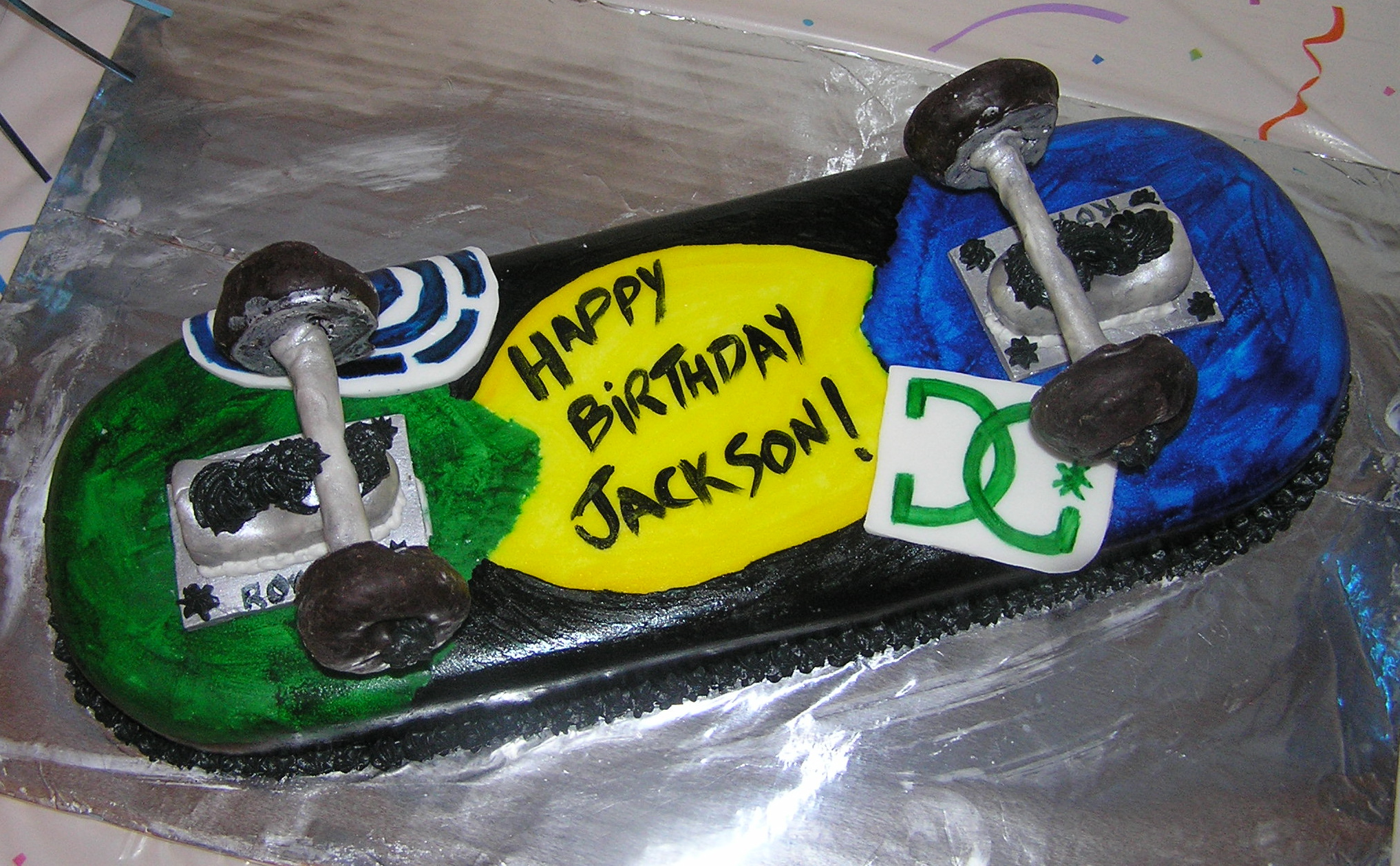 5) Skateboard:  A birthday cake for one of my favorite dudes ever. Doughnut wheels. And I learned what trucks are.