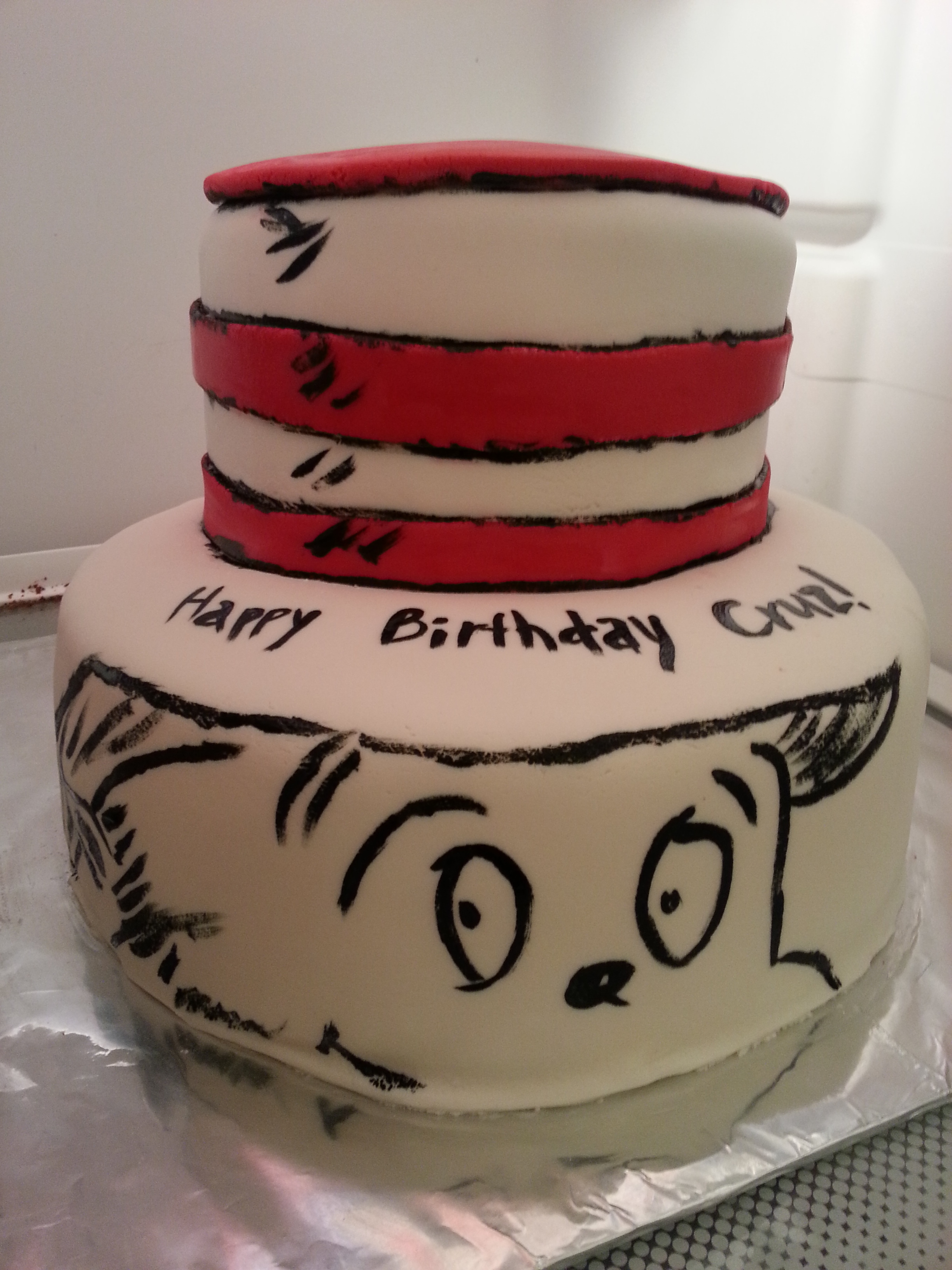 2) The Cat in the Hat:  I love Dr. Seuss. I always have and always will love him, so I jumped at the chance to create this one.