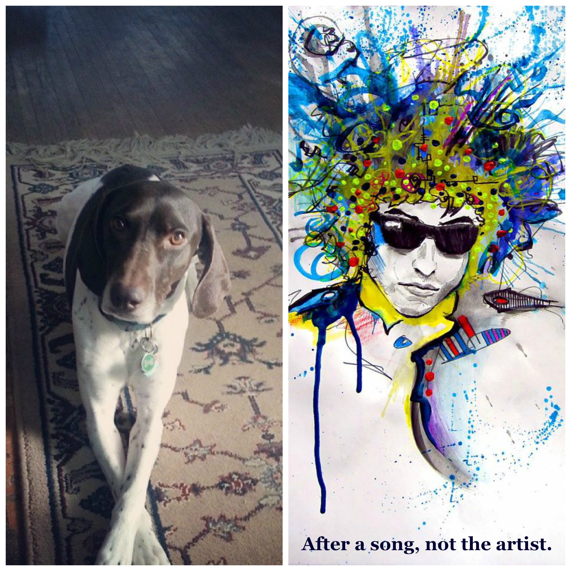Our contribution.  Dylan art by  Shaine Schroeder .