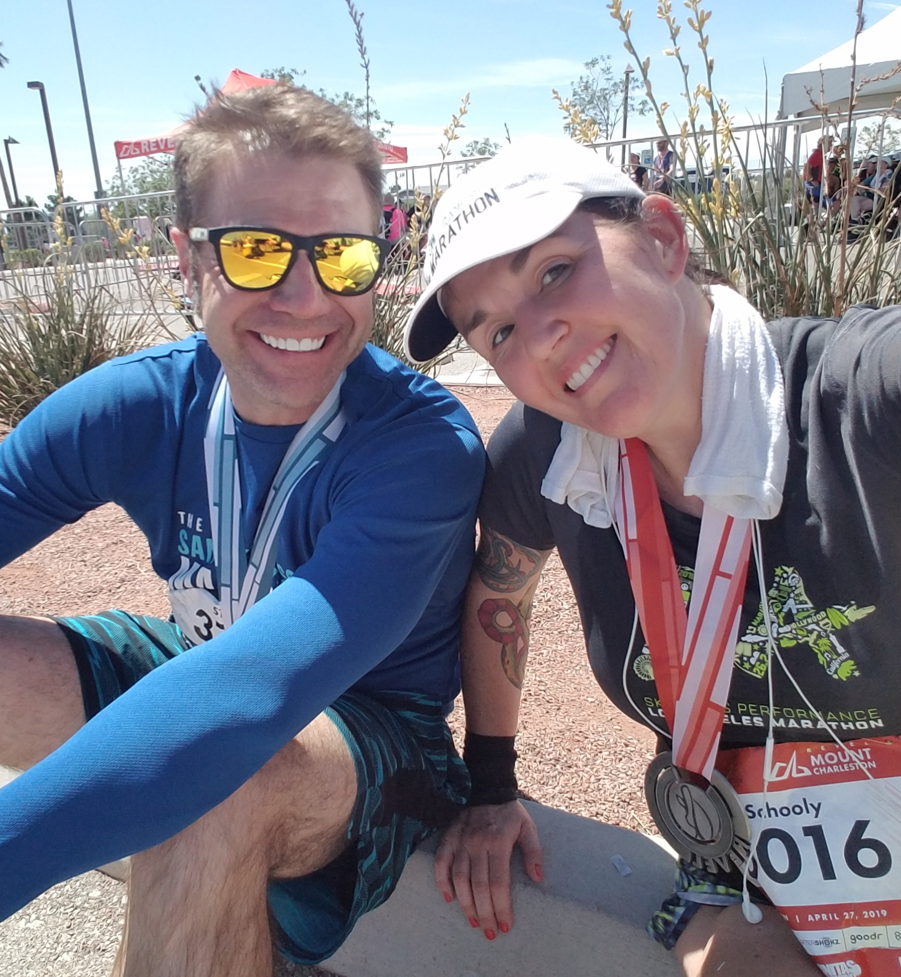 Steve did the half because he's awesome and always up for my weird adventures.
