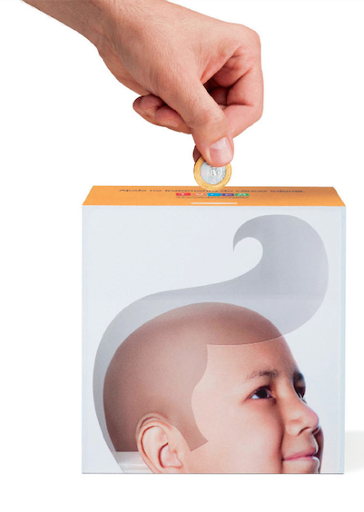 THE PIGGY BANKTHAT SHOWS INSTANTANEOUSLY THE RESULT OF EACH DONATION -