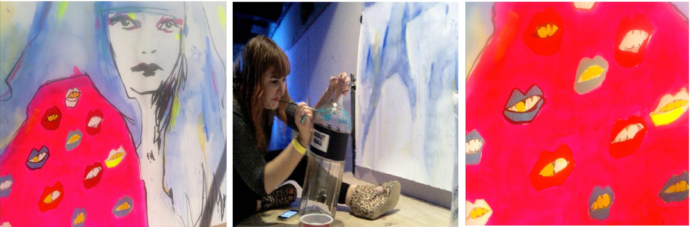 Absolut Vodka x Headstudio Party Mural Rebecca Wetzler