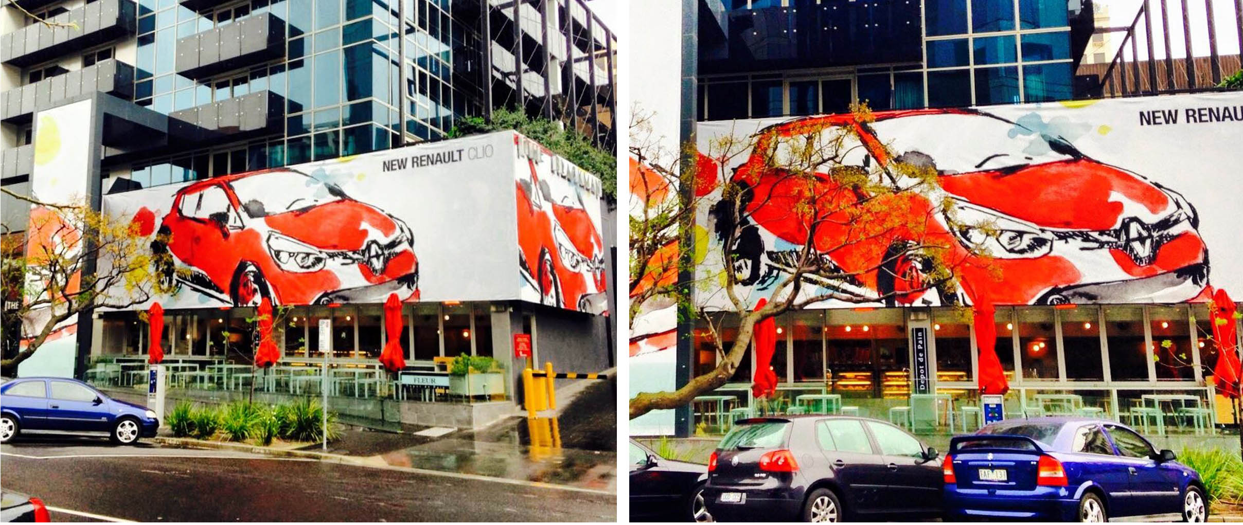 Renault x Blackman Hotel Mural Rebecca Wetzler