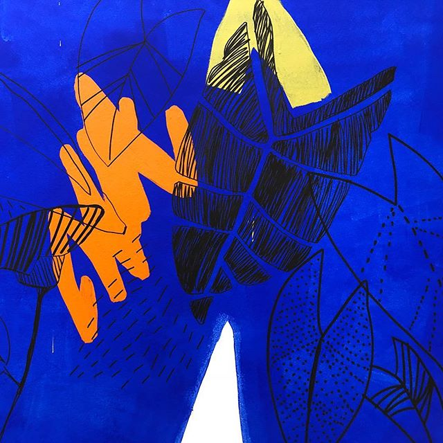 Zoomed in detail from @allianz.australia Mural in North Sydney @hassell_studio @shape_aus . . . . #illustration #drawing #painting #art #fashionillustration #graphicdesign #streetart #graffiti #visualart #mural #sydney #instagrammers #igers #instalove #instamood #instagood #interior123 #interiordesire #interiordetails #interiorforinspo  #interiorlovers #topstylefiles #finditstyleit #photooftheday #vanmuralfest #picoftheday #interiordesign #workinprogress #posca #liquitex