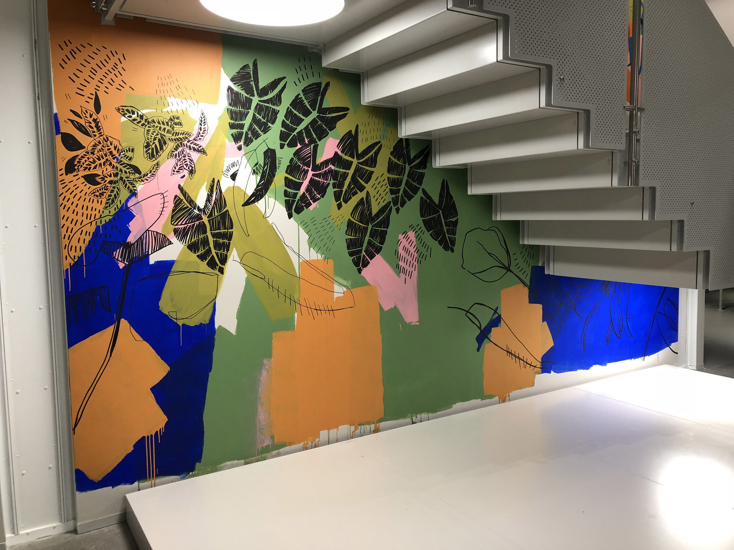 Allianz North Sydney, with Hassell and Shapegroup. 10m Mural,  Winner Illustrators Australia Highly Commended Award 2019.