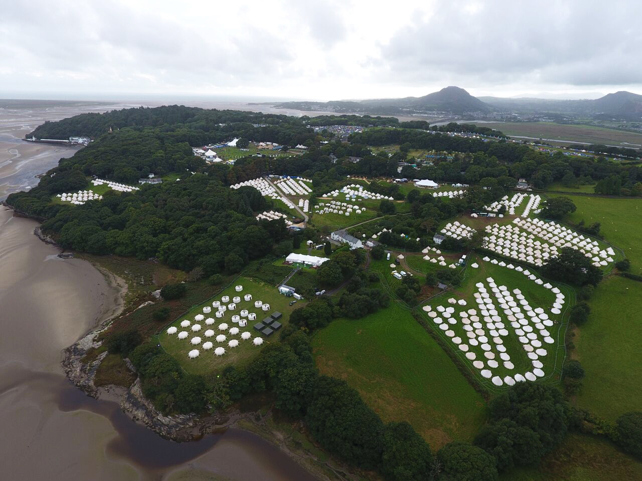 Boutique camping at Festival Number 6 2016