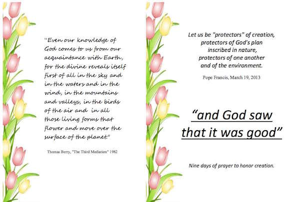 Download your copy of the Nine Days of Prayer booklet here