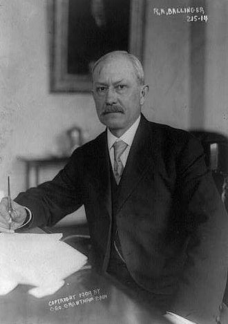 Richard A. Ballinger<br />(U.S. Secretary of the Interior)