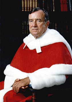 The Rt. Hon. Brian Dickson, PC, CC, CD<br />(Chief Justice Supreme Court of Canada)