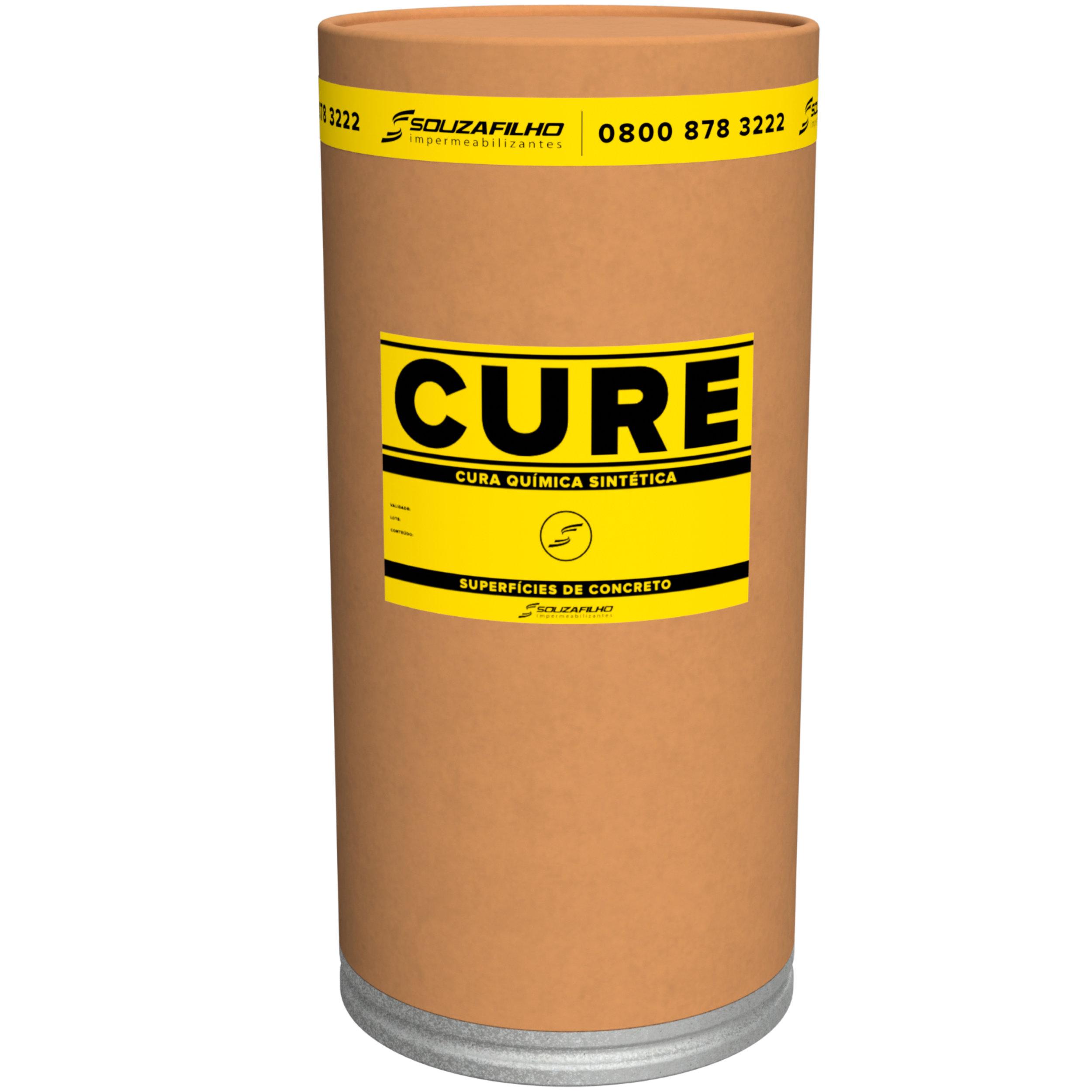 CURE - Cura química para superfícies de concreto.   Embalagem: 25 Quilogramas   Ideal para: Concreto polido e concreto aparente -evita fissuras causadas pela curado concreto   Rendimento:  1 Kg para 5 a 10   m  ².