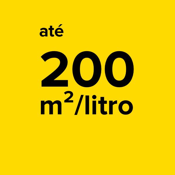 ELEVADO RENDIMENTO - Com 1 litro de BLOKFORMA é possível cobrir até 200 metros quadrados de superfície de madeira.