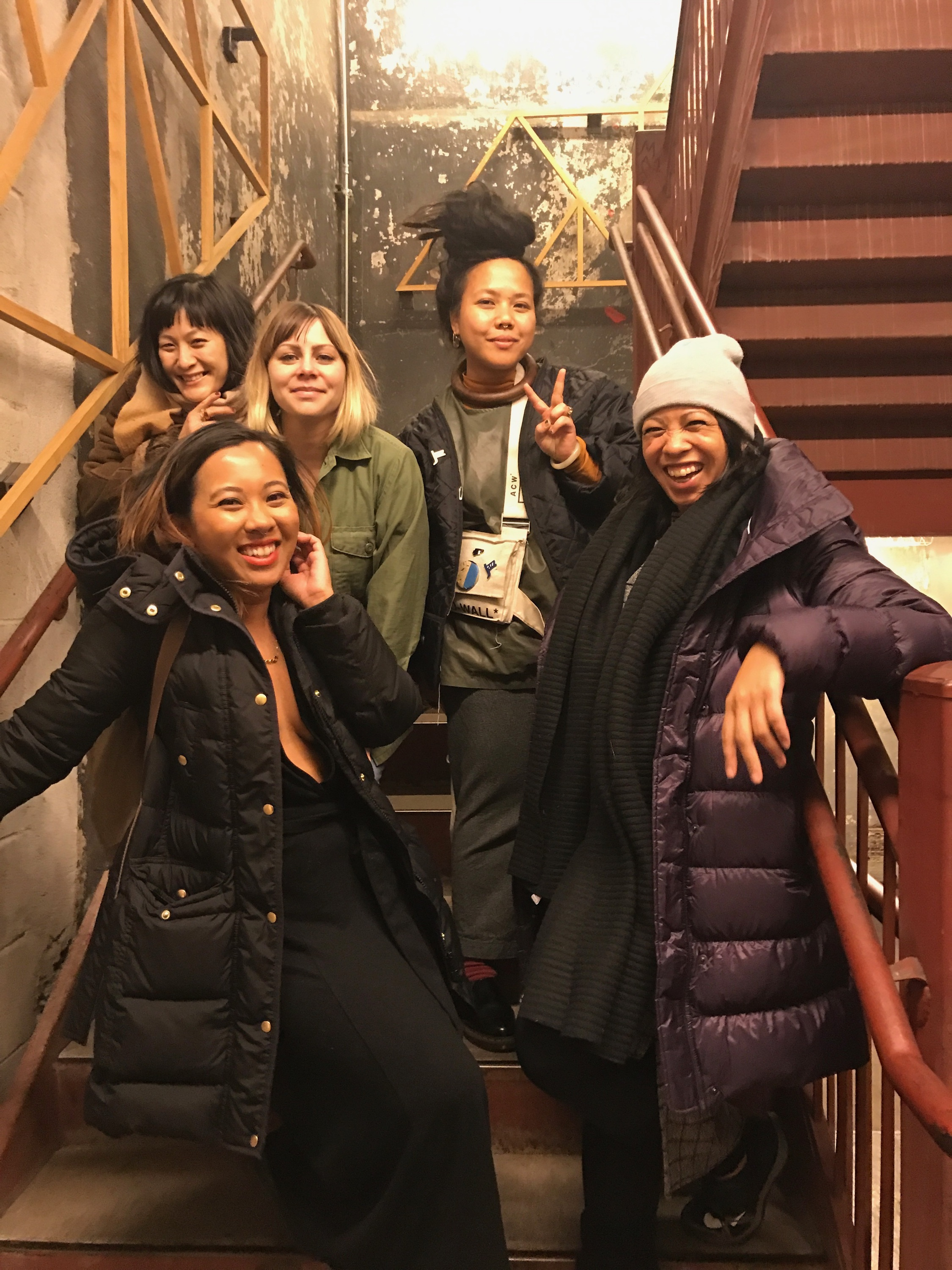 squad goals/fempire: diane chang, cara flaherty, tania enqriuez, yana gilbuena, & yours truly. xoxo, ladies, now let's get in formation. <3
