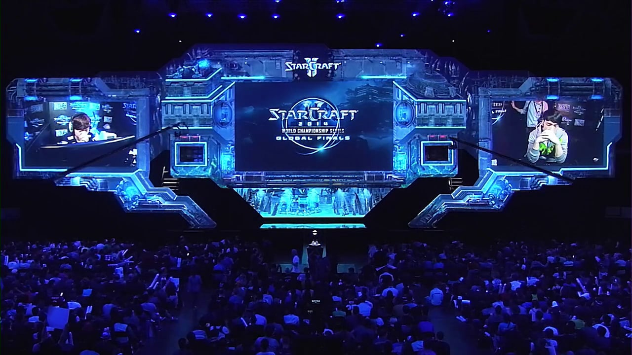 The stage for Starcraft World Finals (2014). They go all out you could say.