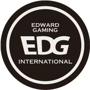 What does EDG do when they need their logo in plain Black & White, or to put it on any medium that can't properly display the 3D elements of their primary logo? Throw a circle around it and skew the text!