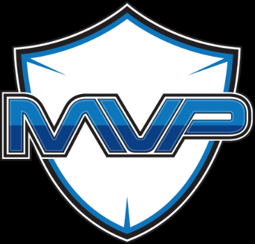 Team MVP's logo isn't bad (especially compared to their old logo on the right), but I would have loved to do an actual discovery session with the team and figure out of the shield imagery was a good fit. I feel that a complete redesign would have been appropriate for this team. In any case, the arrangement of this logo (triple strokes around the shield / lettering, the shield not really contributing anything to the logo) could be much better.