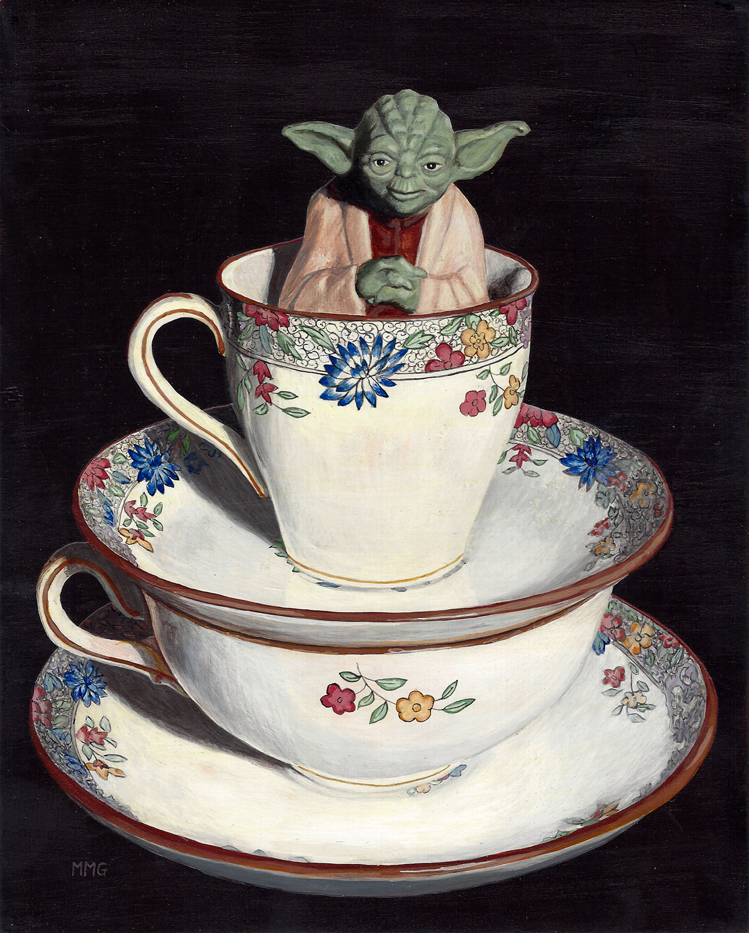 """Yoda in two cups - 8"""" x 10"""""""