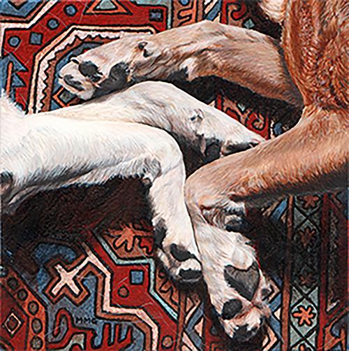 "Dogs Touching 7"" x 7"""