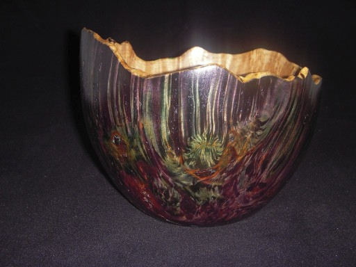Dyed Maple Burl Bowl